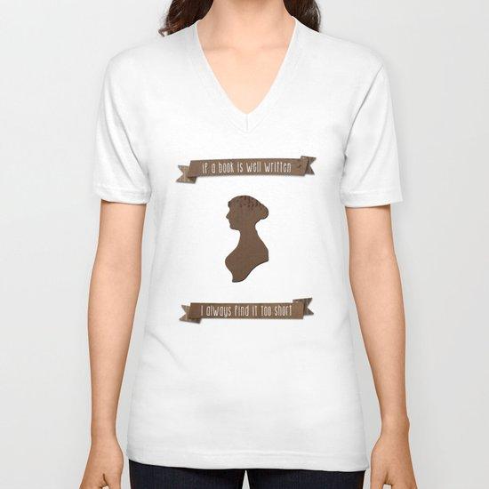 I always find Austen too short V-neck T-shirt