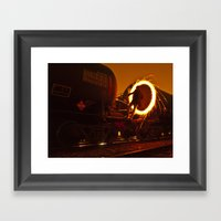 HIGHLY COMBUSTIBLE Framed Art Print