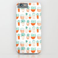 iPhone & iPod Case featuring cacti pattern by Maya Bee Illustrations