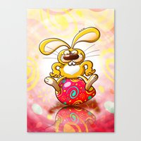Proud Easter Bunny Canvas Print