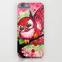 iPhone & iPod Case featuring Cherry Owl by JoJo Seames