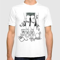 Drop Dead Mens Fitted Tee White SMALL