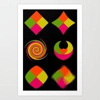 Six Squared Collage Art Print