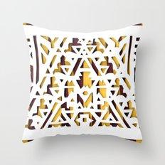 Aztec Pattern Papercut Throw Pillow