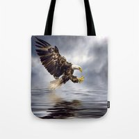 Young Bald Eagle Swoopin… Tote Bag