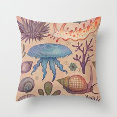 Aequoreus vita II / Marine life II Throw Pillow