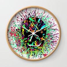 COLOUR SKULL  Wall Clock