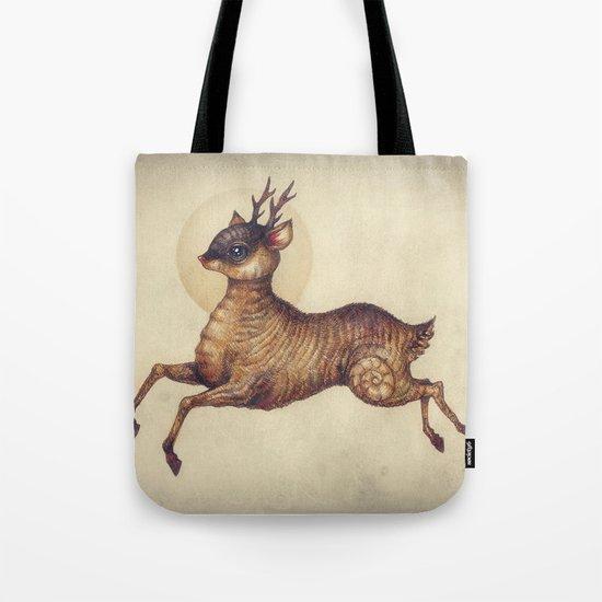 Deer in Leap Tote Bag