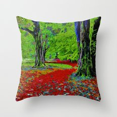 Fantasy Woodland Throw Pillow