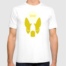 Boston Terrier Thoughts: Treats. SMALL Mens Fitted Tee White