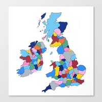 England, Ireland, Scotland & Wales Canvas Print
