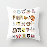 Child Of The 00s Alphabe… Throw Pillow