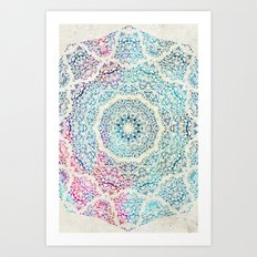 Watercolor Mandala Art Print