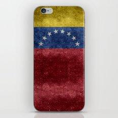 National flag of  Venezuela - Vintage version iPhone & iPod Skin