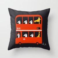 A tall passenger Throw Pillow