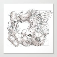 birds/Silence Canvas Print