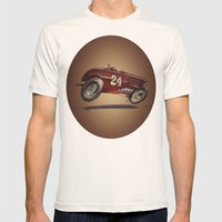 Red 24 Mens Fitted Tee Natural SMALL