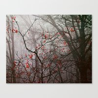 Forest Of Red Canvas Print
