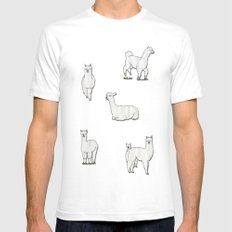 Alpaca Mens Fitted Tee SMALL White