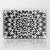 Chrysanthemum in Black and White Laptop & iPad Skin