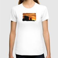 Castle Sunset  - JUSTART © Womens Fitted Tee White SMALL