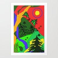 woods Art Print