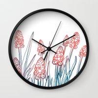 Hyacinths Wall Clock