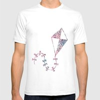 Theta Print-Pastel Mens Fitted Tee White SMALL