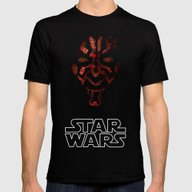 Darth Maul Mens Fitted Tee Black SMALL