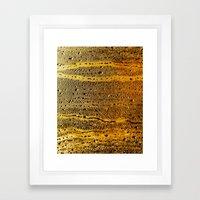 Golden Abstract Framed Art Print