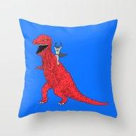 Dinosaur B Forever Throw Pillow
