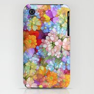 Rainbow Flower Shower iPhone (3g, 3gs) Slim Case