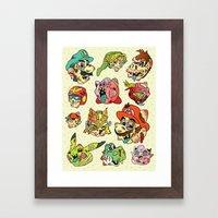 Smashed Bros. Framed Art Print