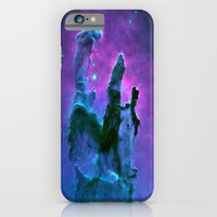 nebula iPhone & iPod Cases featuring Nebula Purple Blue Pink by 2sweet4words Designs