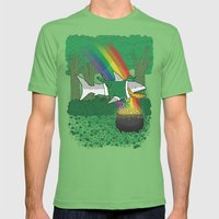 The Lucky Shark Mens Fitted Tee Grass SMALL