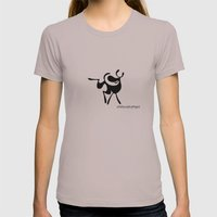 Dog 3 Womens Fitted Tee Cinder SMALL