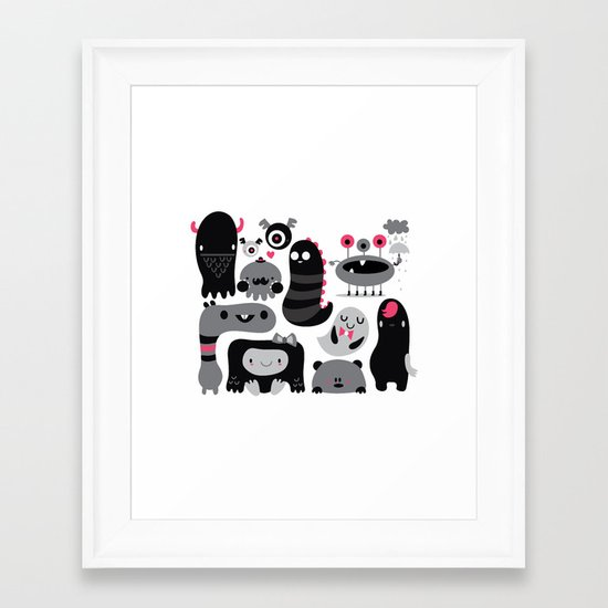 Monstruos Framed Art Print