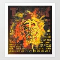 Tiger Style. Art Print