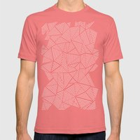 Abstraction Linear Mens Fitted Tee Pomegranate SMALL