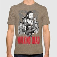 Walking Dead Mens Fitted Tee Tri-Coffee SMALL