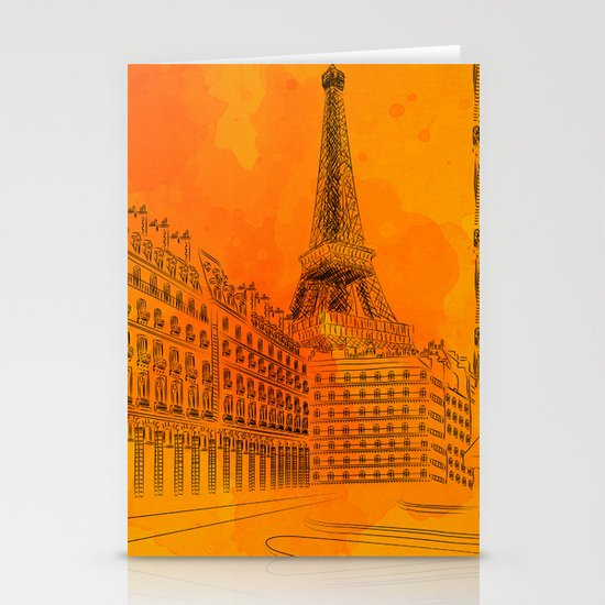 Parisian Sunsets Stationery Card