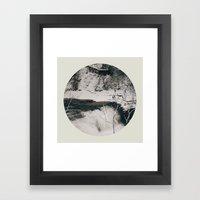 Winter Falls Circular Framed Art Print