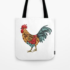 Cockerel. Symbol of 2017 Tote Bag