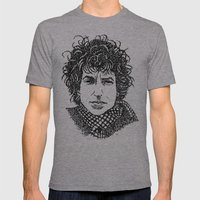 Bob Dylan Mens Fitted Tee Athletic Grey SMALL