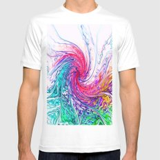 True Colours Mens Fitted Tee White SMALL