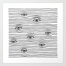 PEEPING TOM [BLK & WHT] Art Print