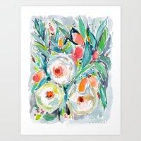 Kumquat Tumble Art Print