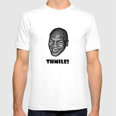 MIKE TYSON  |  THMILE! Mens Fitted Tee White SMALL