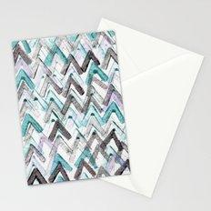 ZigZag Blue Stationery Cards