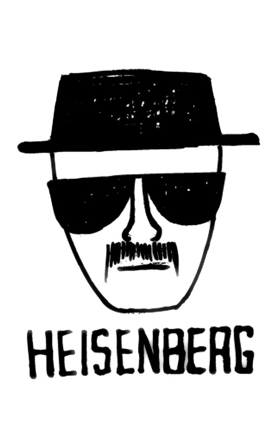 Heisenberg - Breaking Bad Sketch Art Print
